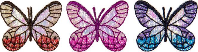 Großhandel Applikation Sort. 3x2 Schmetterlinge