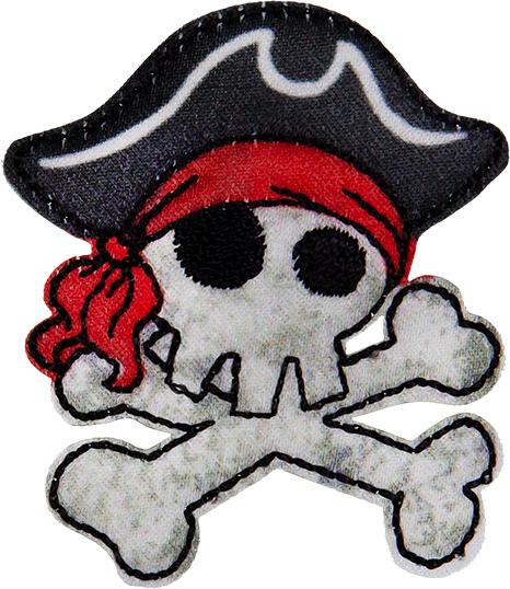 Großhandel Applikation Piratentotenkopf
