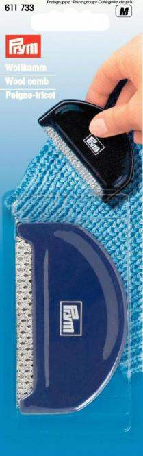 Wholesale Wool comb plastic blue  1pc