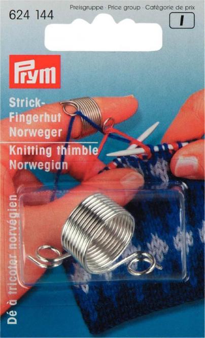 Großhandel Strickfingerhut Norweger MET silberfarbig