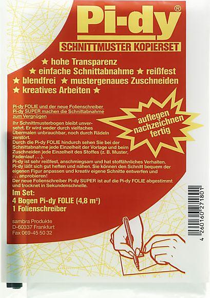 Großhandel Pi-dy Schnittmuster Kopierset mit Folienschreiber 100x120cm