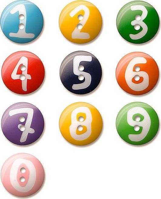 Großhandel Knopfsort.Zahlen 0-9 20mm