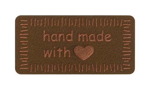 Wholesale Motif Handmade with Love Brown