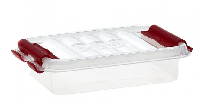 Großhandel Mini-Box 0,2 Liter transparent/rot