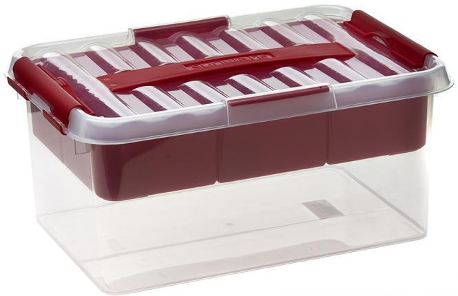 Großhandel Multi-Box 6 Liter transparent/rot