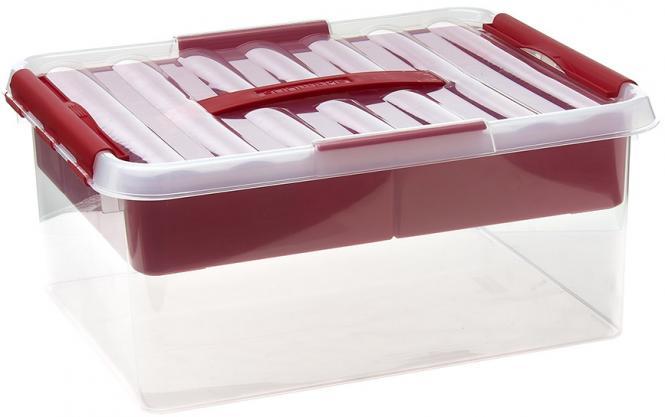 Großhandel Multi-Box 15 Liter transparent/rot