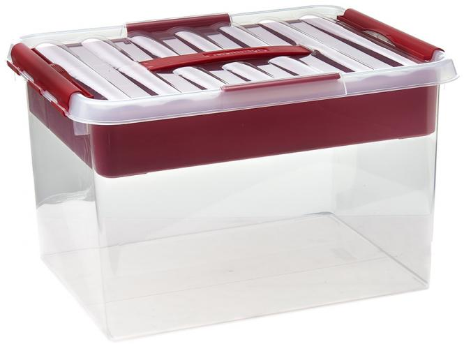 Großhandel Multi-Box 22 Liter transparent/rot