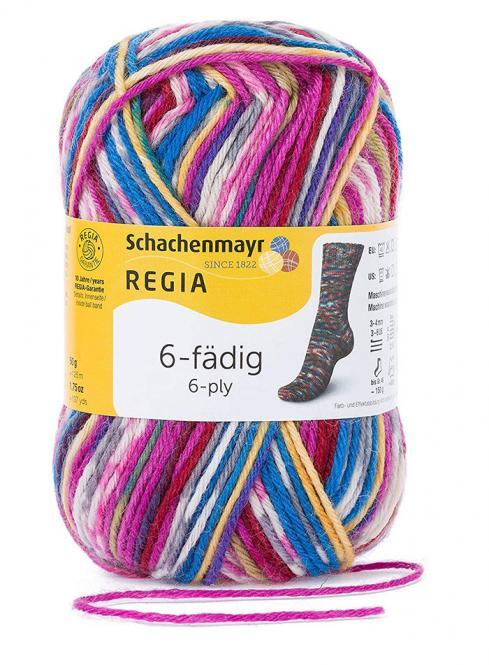 Großhandel Regia 6-fädig Color 50g