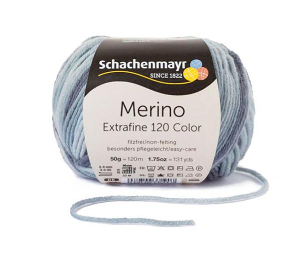 Großhandel Merino Extrafine Color 120 50g