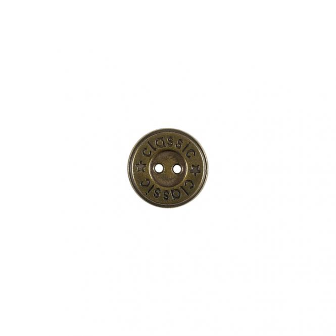 Wholesale Button 2-hole metal 15mm