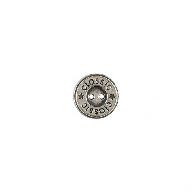 Großhandel Knopf 2-Loch Metall 15mm