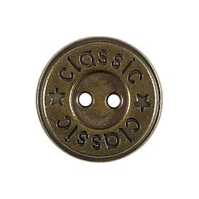 Großhandel Knopf 2-Loch Metall 18mm