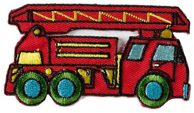 Wholesale Motif to Iron On Fire Truck