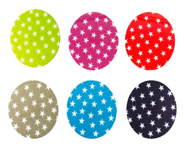 Wholesale motif assortment 6x2 stars on colored ground