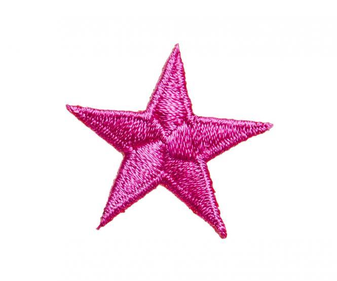 Großhandel Applikation Stern pink