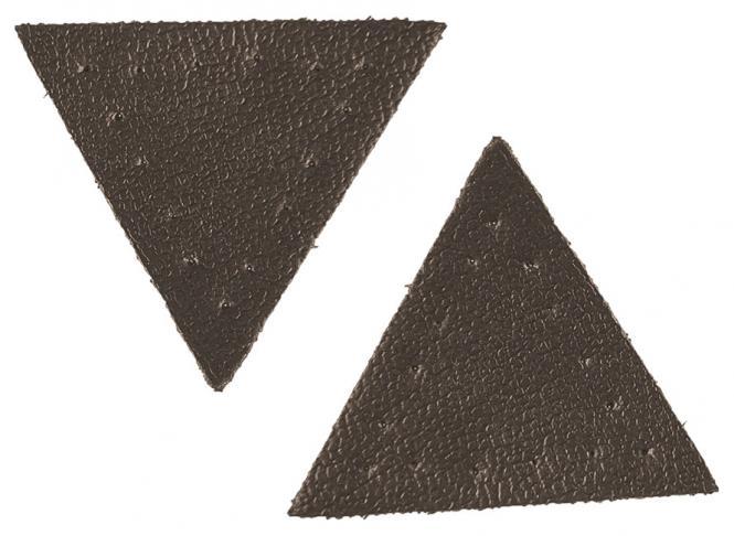 Großhandel Applikation Dreieck Lederimitat braun