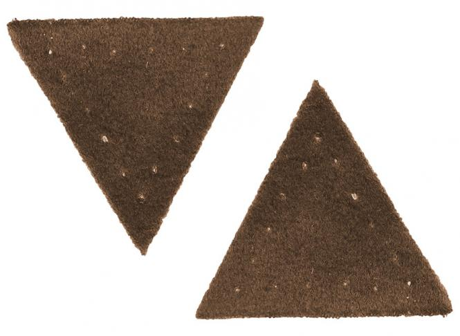 Großhandel Applikation Dreieck Wildlederimitat braun