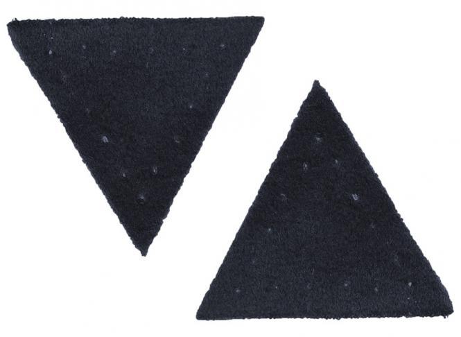 Großhandel Applikation Dreieck Wildlederimitat dkl.blau