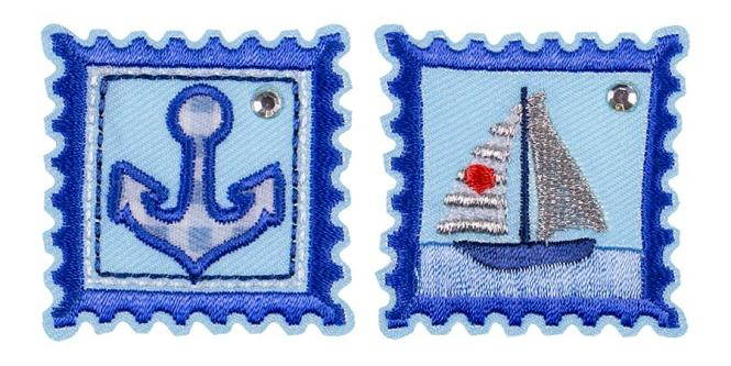 Großhandel Applikation Sort.2x3 Briefmarke Maritim