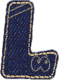 Großhandel Applikation Jeans Buchstabe L