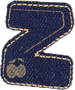 Großhandel Applikation Jeans Buchstabe Z