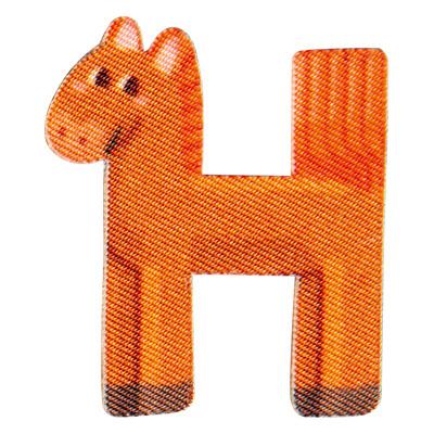 Großhandel Applikation Kids Letter Animals H