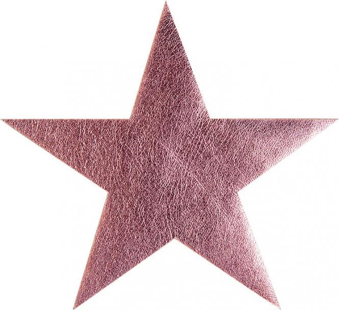 Großhandel Applikation Stern rosa metallic