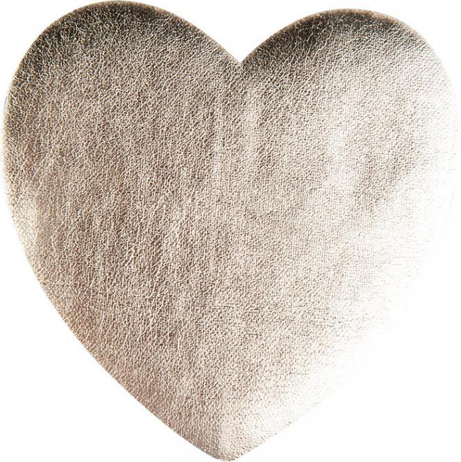 Wholesale Application heart gold metallic