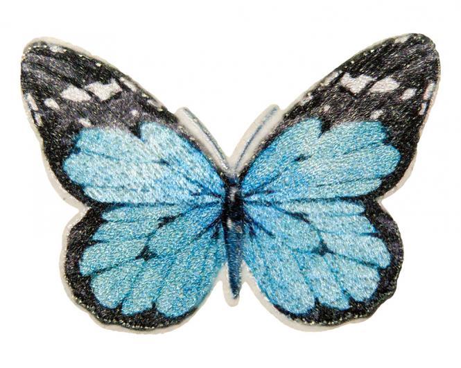 Wholesale Motif Butterfly blue black