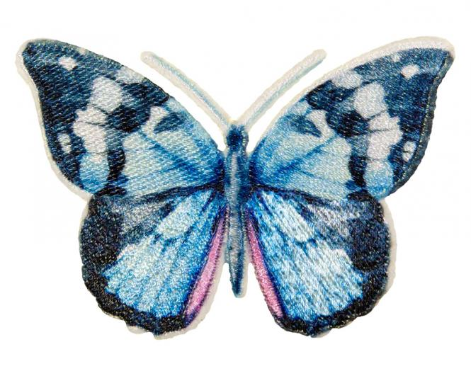 Wholesale Motif Butterfly blue
