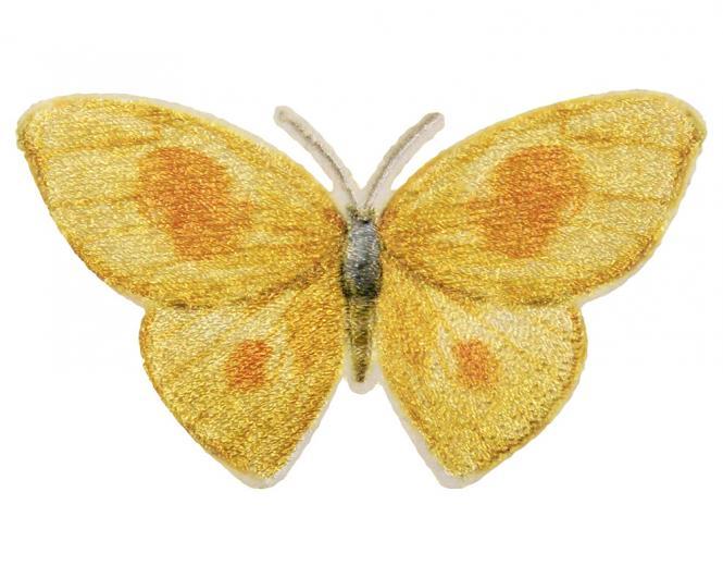 Großhandel Applikation Schmetterling Gelb