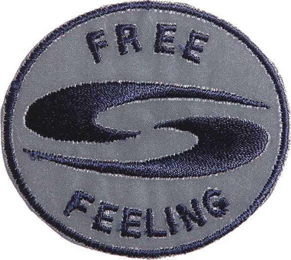 Großhandel Applikation Reflexmotiv 'FREE FEELING'