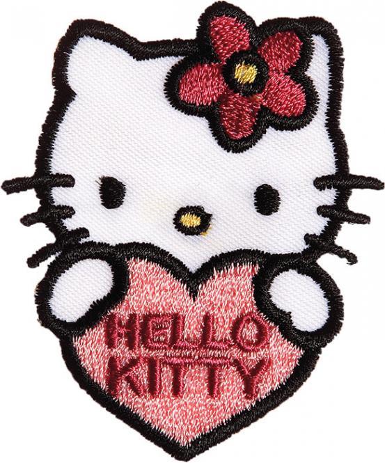 Großhandel Applikation Hello Kitty mit Herz