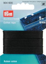 Baumwollband 10 mm schwarz, 4002279165370