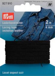 Lederbandimitat 4 mm schwarz, 4002279159195