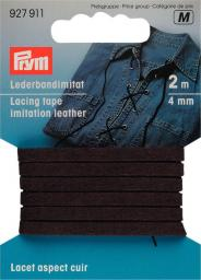 Lederbandimitat 4 mm braun, 4002279159201