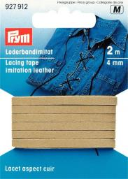 Lederbandimitat 4 mm beige, 4002279159218