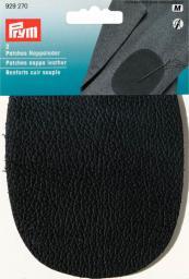 Patch.nappa leath.sew-on 10x14 black 2pc, 4002279159072