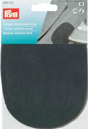Patches imit.suede iron 10x14 black  2pc, 4002279158945