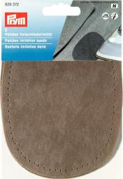Patches imit.suede iron 10x14 stone  2pc, 4002279158969