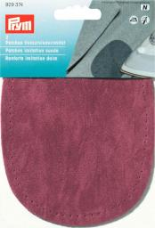 Patches imit.suede iron 10x14 d-red  2pc, 4002279158983