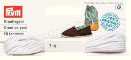 Espadrilles-Kreativgarn 7m weiß (neues Design), 4049909326206