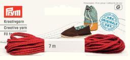 Espadrilles-Kreativgarn 7m rot (neues Design), 4049909326237