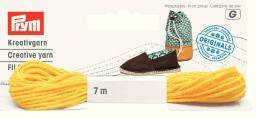 Espadrilles-Kreativgarn 7m gelb (neues Design), 4049909326268
