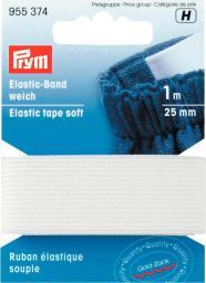 Elastic-Band weich 25 mm weiß, 4002279141107