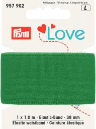 Prym Love Elastic waistband 38mm green, 4049909579022