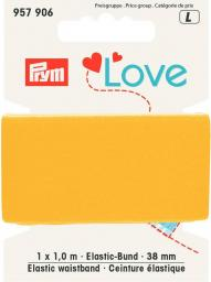 Prym Love Elastic waistband 38mm yellow, 4049909579060