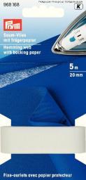 Saumvlies mit Trägerpapier zum Einbügeln 20 mm weiß, 4049909681688