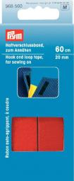 Hook+loop tape f.sewing on 20mm red 60cm, 4002279188041