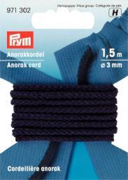 Anorak cord 3mm navy blue           1.5m, 4002279154060